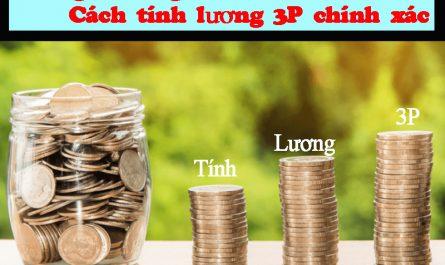 Lương 3P là gì? Cách tính lương 3P chính xác