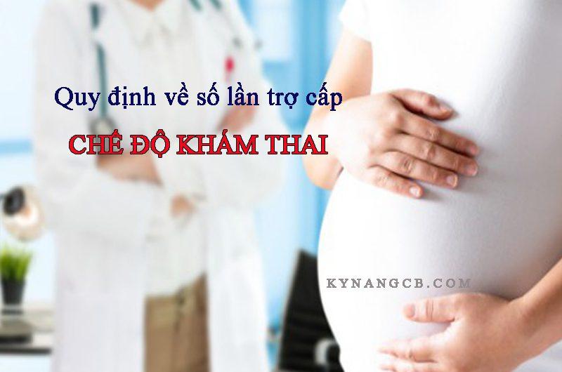 Quy định về số lần trợ cấp chế độ khám thai dành cho người lao động